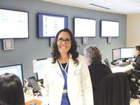 Mercy CNO Sharon Adams in the hub, where care is centrally coordinated